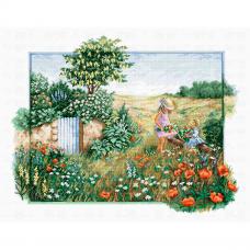 BU4013 Набор для вышивания 'Пейзаж с маками', 44,5*34,5см, Luca-S