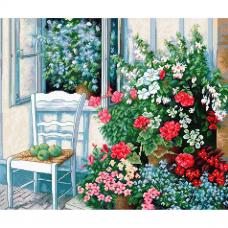 BU4017 Набор для вышивания 'Терраса с цветами' 38*32см, Luca-S