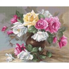 B587 Набор для вышивания Luca-S 'Ваза с розами' 38*31см