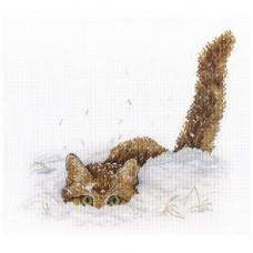 НВ-557 Кот в снегу