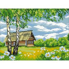 2450 Набор для вышивания 'Домик в деревне'45*33 см