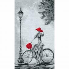 0277 Набор для вышивания'Прогулка на велосипеде'23х38 см