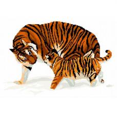 В-0001 Набор для вышивания Nitex 'Тигры', 45х33 см