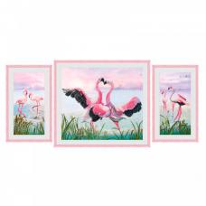 СР6550 Набор для вышивания 'Танец фламинго'60*30см