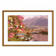 СР3260 Набор для вышивания 'Озеро Гарда'44 x 28 см