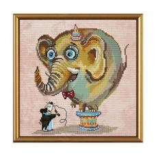 ННД5550 Набор для вышивания 'Нова Слобода' 'Цирковой слон', 20x20 см