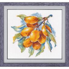 1091 Набор для вышивания ОВЕН ' Янтарная ягода' 15×15см