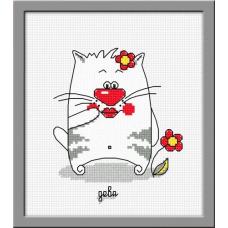842 Набор для вышивания (Кошачий гороскоп Дева) ОВЕН