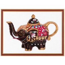 1037 Набор для вышивания ОВЕН 'Чайный слоник' 26*19см