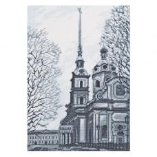 08.025 Набор для вышивания Палитра 'Петропавловский Собор, Санкт-Петербург'19х27см
