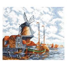 07.018 Набор для вышивания Палитра 'Голландский пейзаж'28х24см