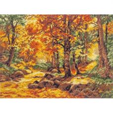 08.030 Набор для вышивания Палитра 'Осенний пейзаж', по мотивам картины Генриха Бёмера' 36*26см