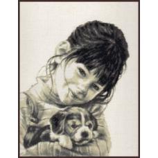 11.003 Девочка со щенком