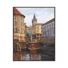 08.020 Набор для вышивания Палитра 'Лавочный мост. Старый Кёнигсберг' 27х35 см