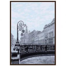 08.023 Набор для вышивания Палитра 'Итальянский мост. Санкт-Петербург' 19х27 см