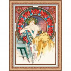 100/058 Девушка с мольбертом» по мотивам произведения А. Мухи