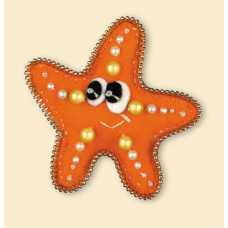 1410АС брошь «Морская звездочка»