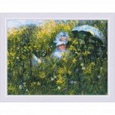 1850 На лугу по мотивам картины К. Моне