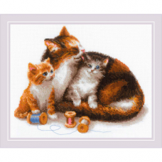 1811 Кошка с котятами