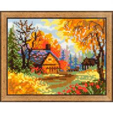 1325 Деревенский пейзаж. Осень