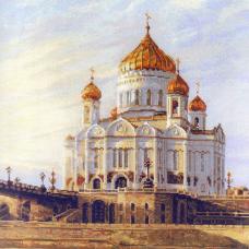 1371 Москва. Храм Христа Спасителя
