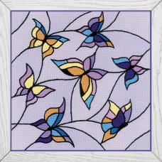 1625 Подушка/панно «Витраж. Бабочки»