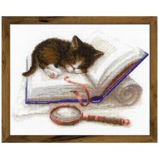 1725 Котёнок на книжке