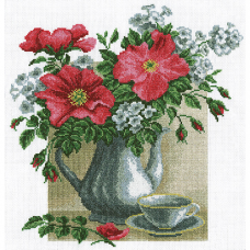 857 Набор для вышивания 'РС-Студия' 'Натюрморт с Шиповником', 59*59 см