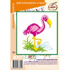 839 Набор для вышивания 'РС-Студия' 'Фламинго', 13*16 см