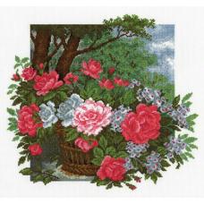 746 Набор для вышивания 'РС-Студия' 'Розы в корзине', 34*36 см
