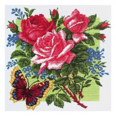 862 Набор для вышивания Р-Студия 'Розы с бабочкой'