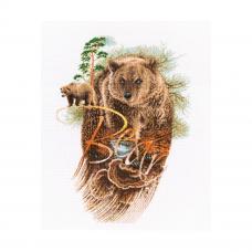 M781 Набор для вышивания РТО 'Хозяин леса'28,5*40см