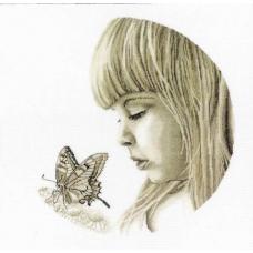 М344 Девочка с бабочкой