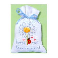 2002-48247 (PN-0011761) Набор для вышивания Vervaco саше 'Божья коровка на цветке '8*12см