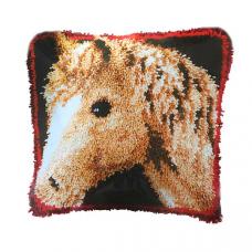 PN-0145613 VERVACO Набор для вышивания подушка ковровая 'Моя любимая лошадь' 40х40 см