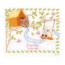 PN-0021788 Набор для вышивания Vervaco 'В хижине на дереве' 23*19см
