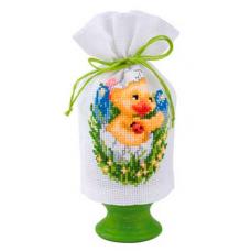 2320-16401 Набор для вышивания чехол для Пасхального яйца Vervaco 9*12см