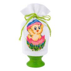 2320-16403 Набор для вышивания чехол для Пасхального яйца Vervaco 9*12см