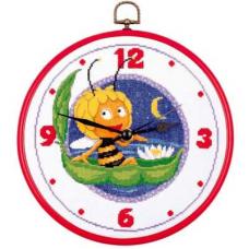 PN-0150132 Набор для вышивания часы с рамкой Vervaco 'Майя в ночи' диаметр 20см