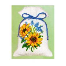 2002-48220 (PN-0011738) Набор для вышивания Vervaco саше 'Подсолнухи' 8*12см
