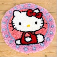 PN-0147570 Набор для вышивания коврик фигурный диаметр Vervaco 'Hello Kitty' 55*55см