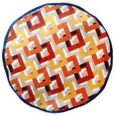 PN-0144835 VERVACO Набор для вышивания подушка круглая 'Геометрический узор' 40 см