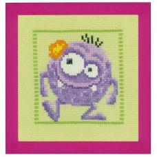 PN-0150595 Набор для вышивания Vervaco 'Фиолетовый монстр' 19*20см
