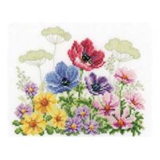 PN-0143721 Набор для вышивания счетный Vervaco 'Полевые цветы' 19*15см