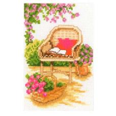 PN-0003721 Набор для вышивания Vervaco 'Садовое кресло' 8*12см