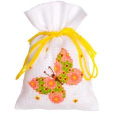 PN-0146853 Набор для вышивания Vervaco саше 'Зеленая бабочка' 8*12см