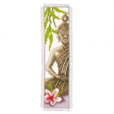 PN-0143911 Набор для вышивания закладка для книг Vervaco 'Будда' 6*20см