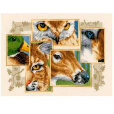 PN-0145247 Набор для вышивания Vervaco 'Коллаж дикой природы '36*27см