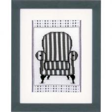 PN-0148610 Набор для вышивания Vervaco 'Кресло в стиле барокко' 13*18см