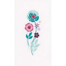 PN-0154588 Набор для вышивания Vervaco 'Современные цветы 4' 13*30см